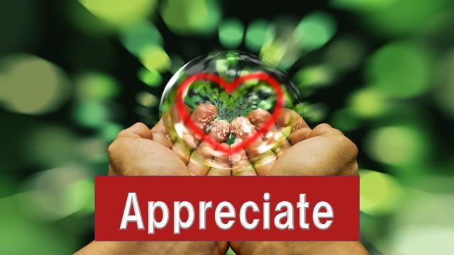 Appreciateの1つの意味である感謝の気持ちを表すイラスト