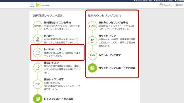 レアジョブ英会話では、無料体験レッスン後、無料日本人カウンセリングも受けられる
