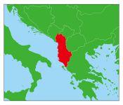 アルバニアの地図