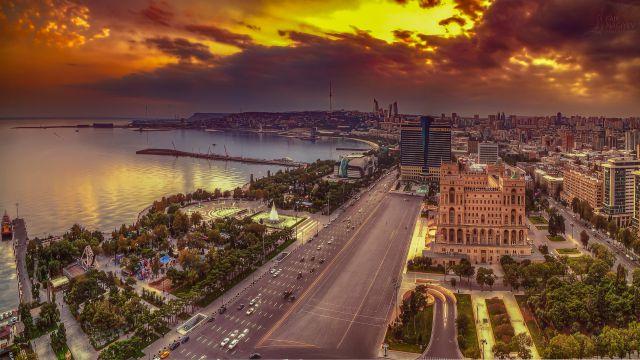 講師が住むアゼルバイジャンの街並み