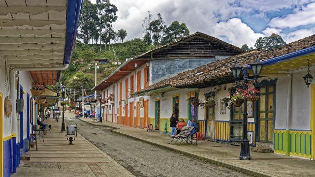講師が住むコロンビアの田舎町