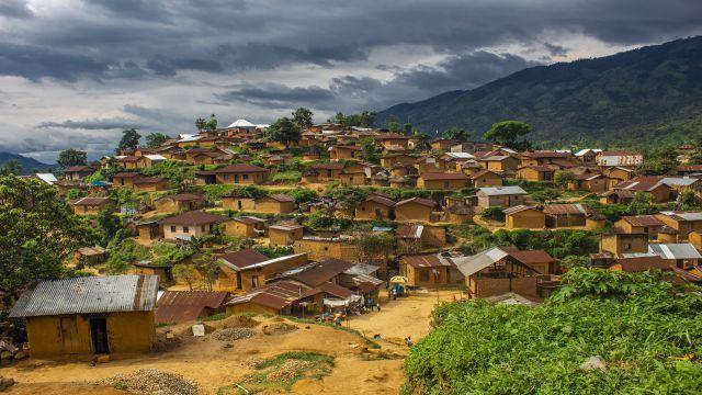 講師が住むコンゴ共和国の住宅地