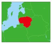 リトアニアの地図