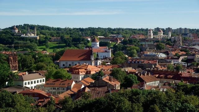 講師が住むリトアニアの街並み