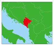 モンテネグロの地図