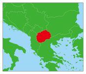 北マケドニアの地図