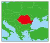 ルーマニアの地図