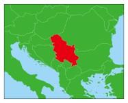 セルビアの地図