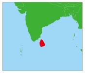 スリランカの地図