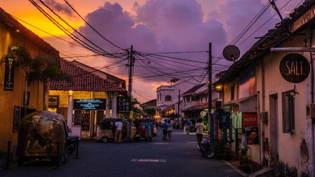 講師が住むスリランカの街並み