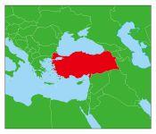 トルコの地図