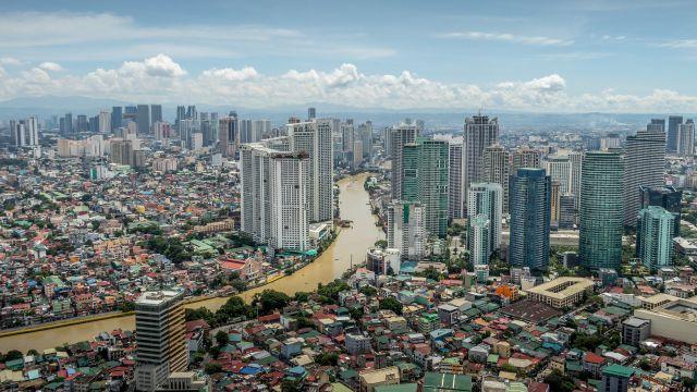 フィリピンマニラの街並み